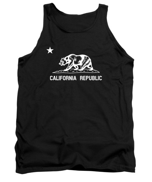 The Bear Flag - Black And White Tank Top
