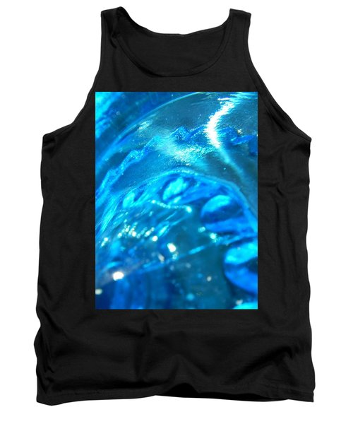 The Beauty Of Blue Glass Tank Top by Samantha Thome