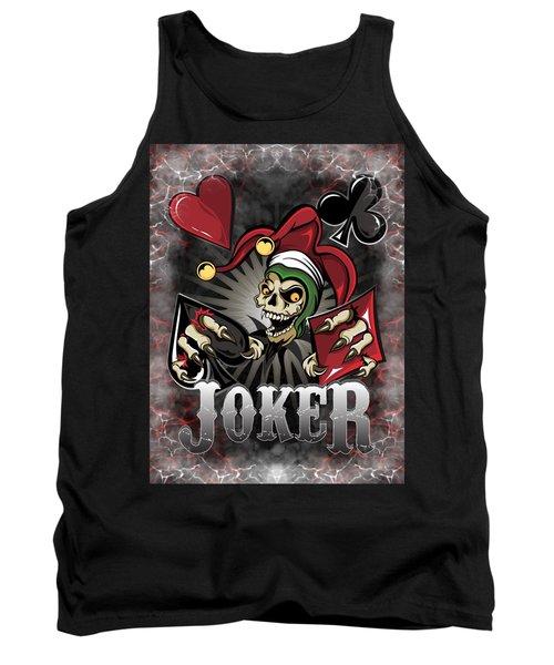 Joker Poker Skull Tank Top