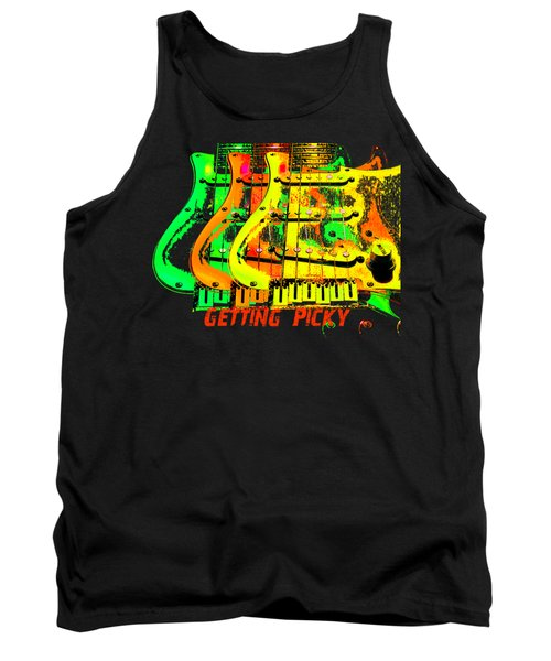 Tank Top featuring the photograph Triple Pickguards by Guitar Wacky