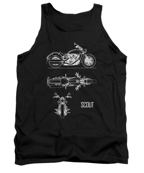 The Scout Motorcycle Blueprint Tank Top