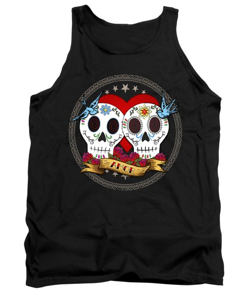 Love Skulls II Tank Top by Tammy Wetzel