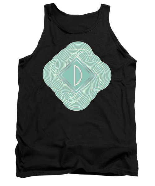 1920s Blue Deco Jazz Swing Monogram ...letter D Tank Top by Cecely Bloom