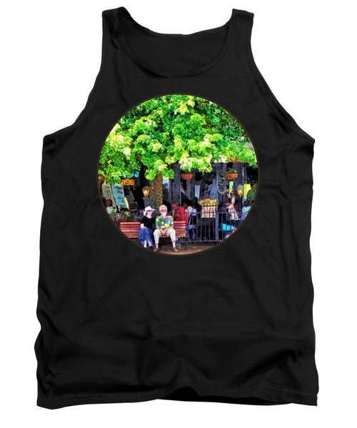 Asheville Nc Outdoor Cafe Tank Top