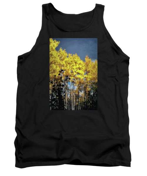 Tank Top featuring the photograph Aspen Impressions by Jim Hill
