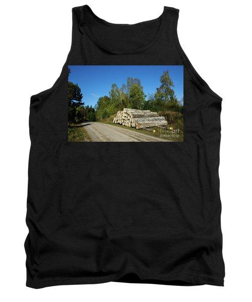 Tank Top featuring the photograph Aspen Timber by Kennerth and Birgitta Kullman