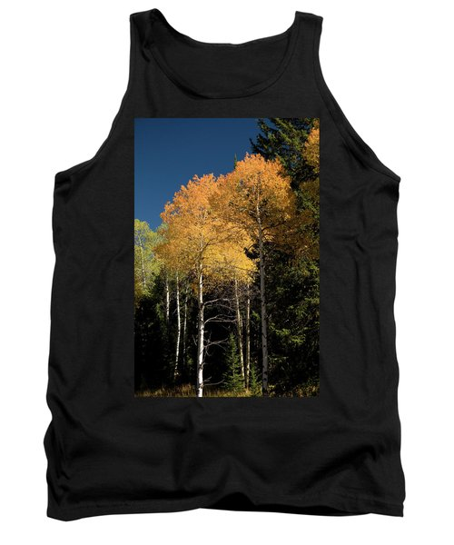 Tank Top featuring the photograph Aspens And Sky by Steve Stuller