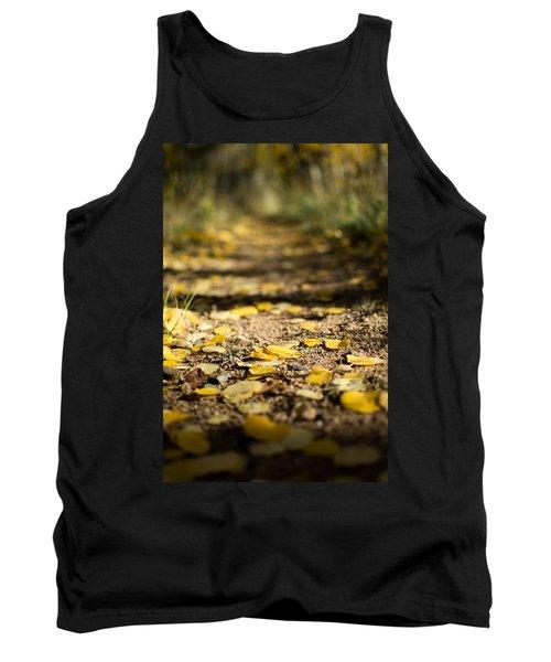 Aspen Leaves On Trail Tank Top