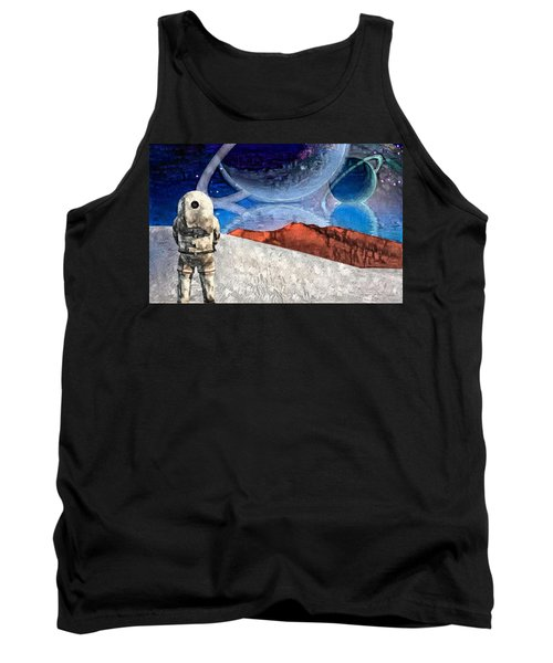 Astronaut On Exosolar Planet Tank Top