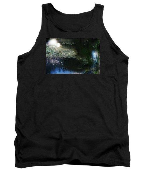 Tank Top featuring the photograph At Claude Monet's Water Garden 3 by Dubi Roman