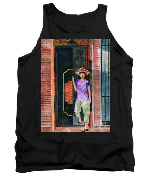 Tank Top featuring the painting At Puri Kelapa by Melly Terpening