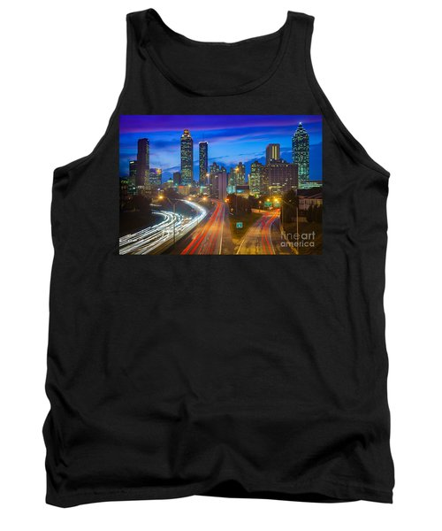 Atlanta Downtown By Night Tank Top