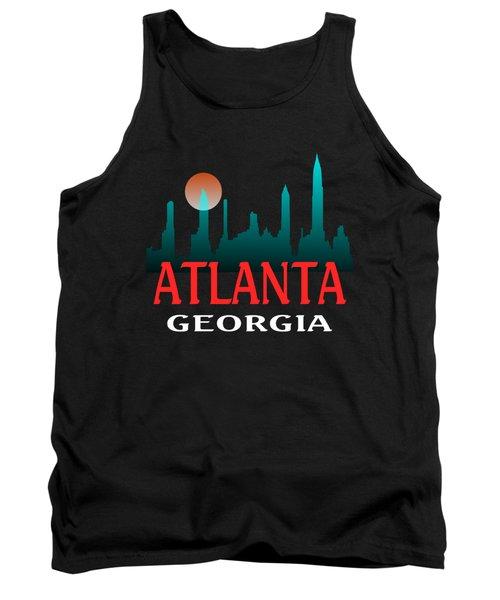 Atlanta Georgia Tshirt Design Tank Top by Art America Gallery Peter Potter