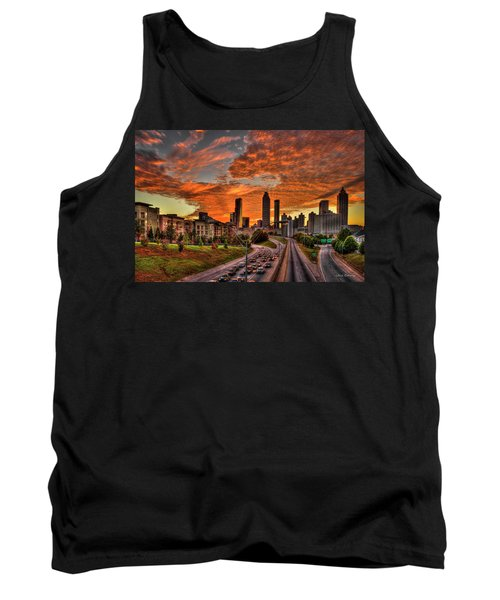 Atlanta Orange Clouds Sunset Capital Of The South Tank Top