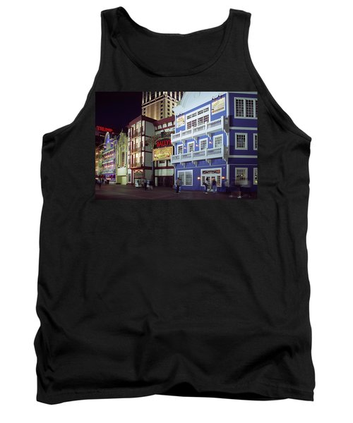 Atlantic City Boardwalk At Night Tank Top by Sally Weigand