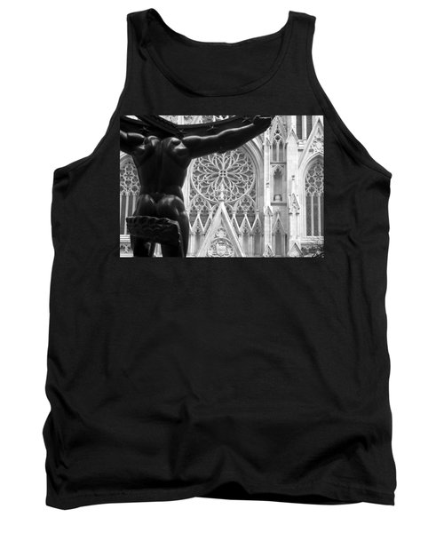 Atlas And St. Patrick's Cathedral Tank Top