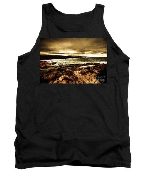 Atmospheric Beach Artwork Tank Top