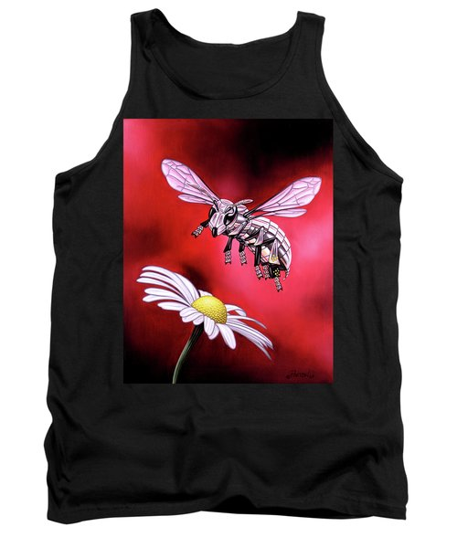 Attack Of The Silver Bee Tank Top