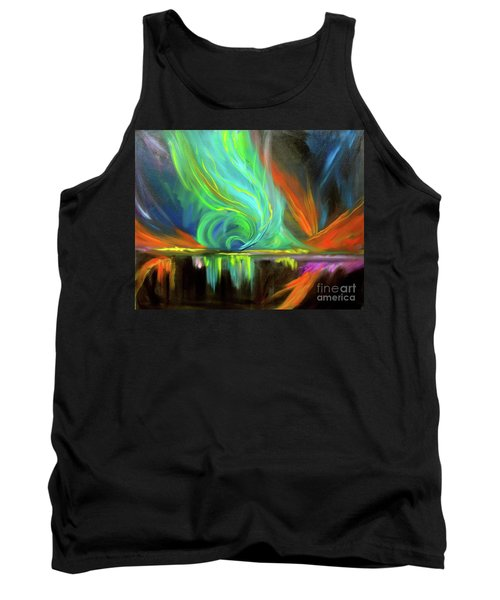 Aurora Borealis Tank Top by Jenny Lee