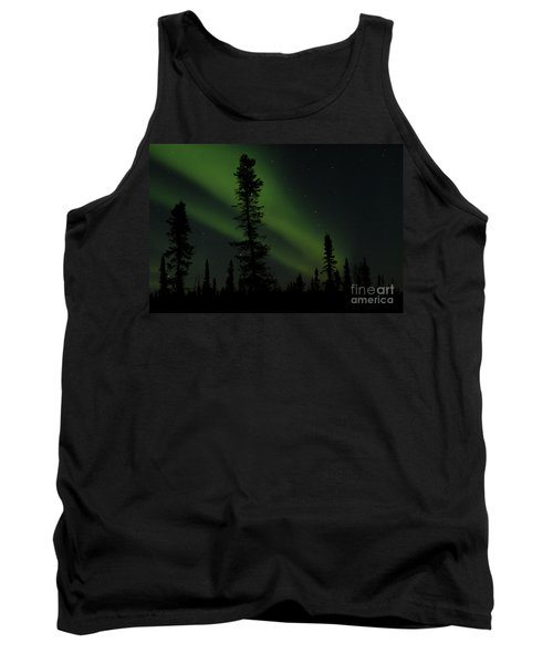 Aurora Borealis The Northern Lights Interior Alaska Tank Top by Sharon Mau