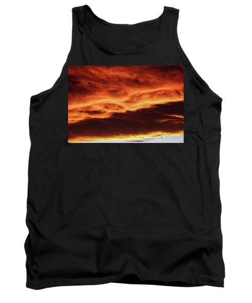 Aurora Firey Sunset Tank Top by John McArthur
