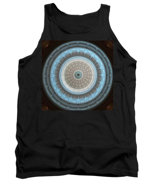 Austin Capitol Dome In Gray And Blue Tank Top
