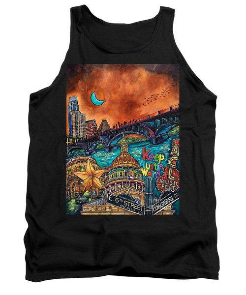 Austin Keeping It Weird Tank Top by Patti Schermerhorn