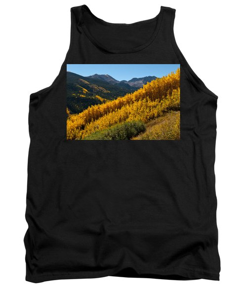 Autumn Aspen Near Castle Creek Tank Top