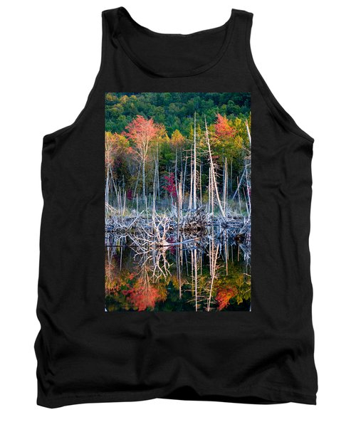 Autumn At Moosehead Bog Tank Top