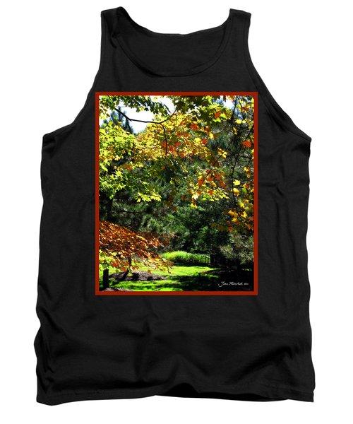 Tank Top featuring the photograph Autumn Backyard by Joan  Minchak