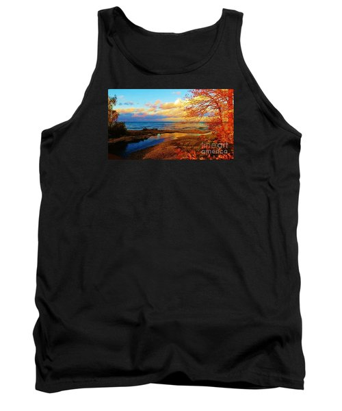 Autumn Beauty Lake Ontario Ny Tank Top by Judy Via-Wolff