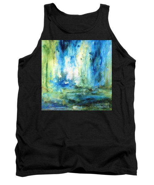 Tank Top featuring the painting Spring Rain  by Laurie Rohner