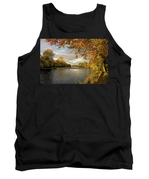 Autumn By The River Ness Tank Top by Jacqi Elmslie