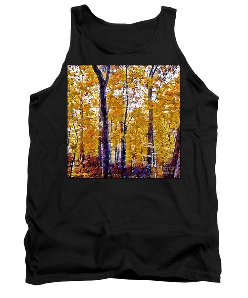 Autumn  Day In The Woods Tank Top by MaryLee Parker