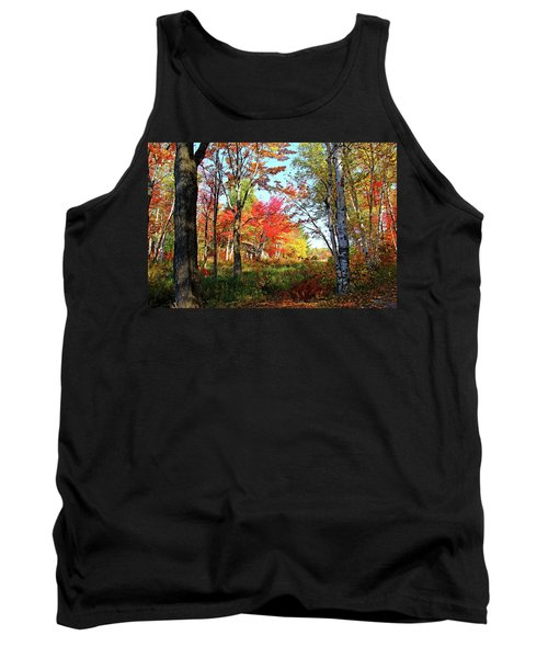 Autumn Forest Tank Top by Debbie Oppermann