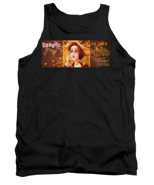 Tank Top featuring the painting Autumn by Igor Postash