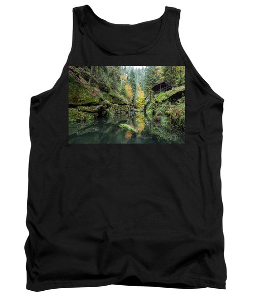 Autumn In The Kamnitz Gorge Tank Top by Andreas Levi