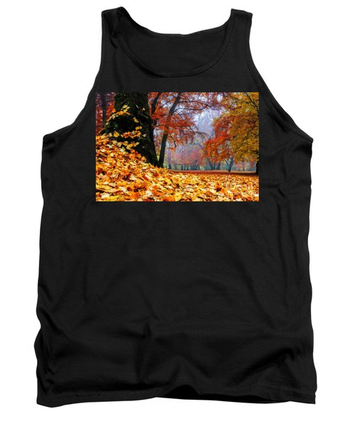 Autumn In The Woodland Tank Top by Hannes Cmarits