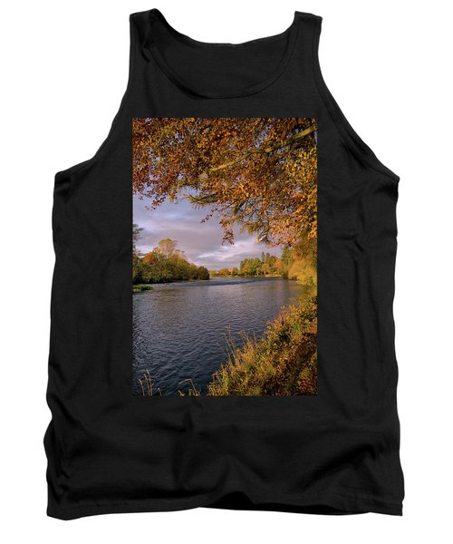 Autumn Light By The River Ness Tank Top by Jacqi Elmslie