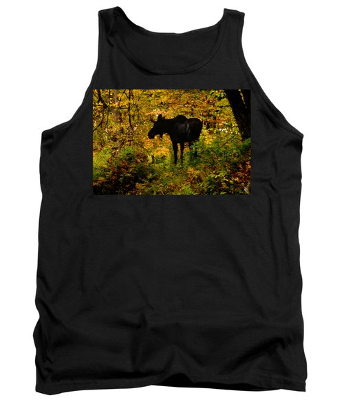 Autumn Moose Tank Top by Brent L Ander