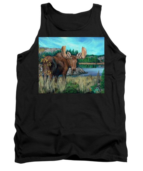 Autumn Moose Tank Top