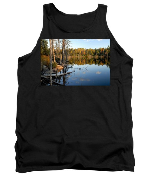 Autumn Reflections On Little Bass Lake Tank Top
