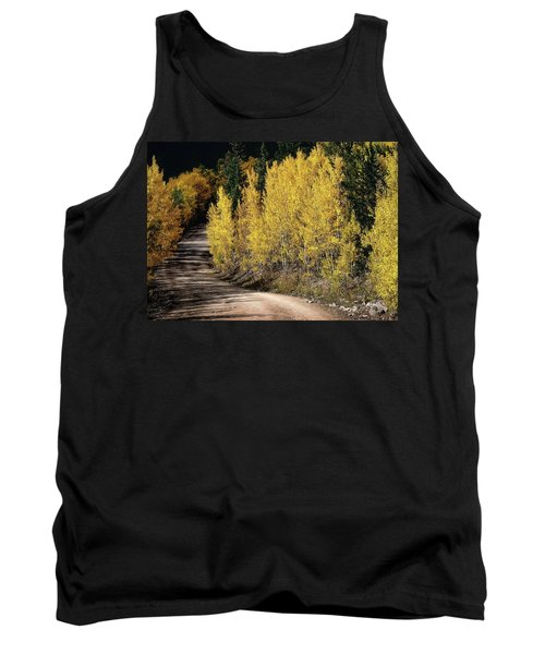 Tank Top featuring the photograph Autumn Road by Jim Hill