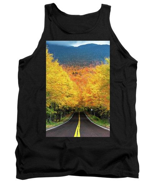 Autumn Tree Tunnel Tank Top