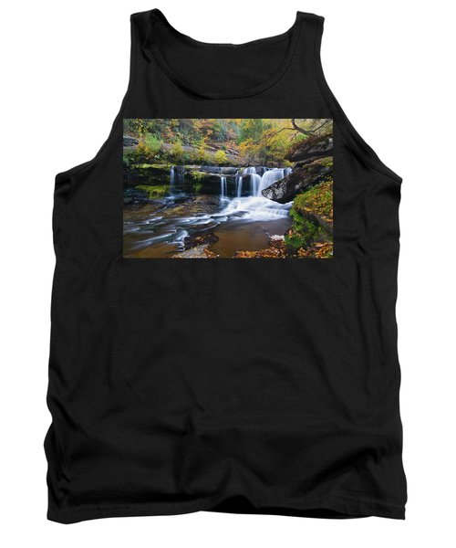 Tank Top featuring the photograph Autumn Waterfall by Steve Stuller