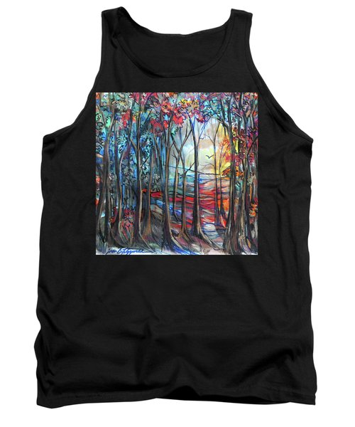 Autumn Woods Sunrise Tank Top