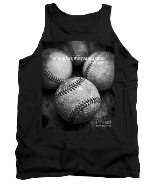 Babe Ruth Quote Tank Top by Edward Fielding