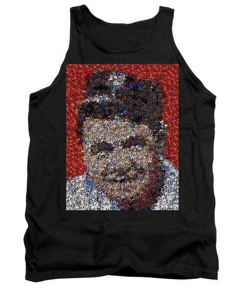 Tank Top featuring the mixed media Babr Ruth Puzzle Piece Mosaic by Paul Van Scott
