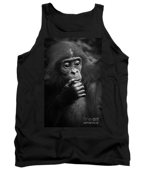 Tank Top featuring the photograph Baby Bonobo by Helga Koehrer-Wagner