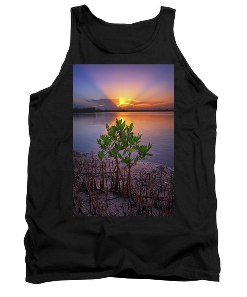 Tank Top featuring the photograph Baby Mangrove Sunset At Indian River State Park by Justin Kelefas